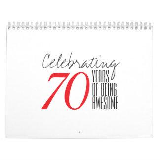 70 años de ser impresionante calendario de pared