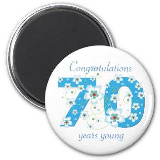 70 años del cumpleaños de imán joven de la enhorab