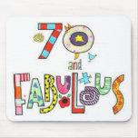 70 años del cumpleaños fabuloso tapetes de raton
