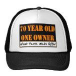 70 años, un dueño - las piezas de las necesidades, gorros bordados