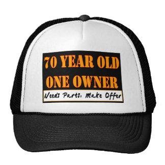70 años un dueño - las piezas de las necesidades gorros bordados