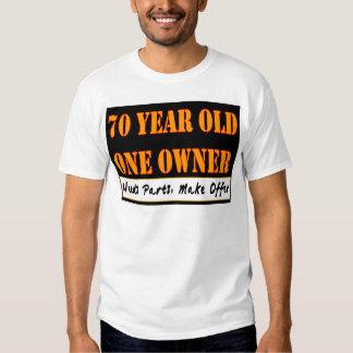 70 años, un dueño - las piezas de las necesidades, poleras