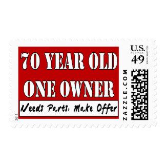 70 años, un dueño - las piezas de las necesidades, sello