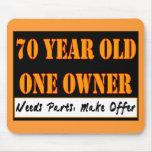 70 años, un dueño - las piezas de las necesidades, tapetes de ratones