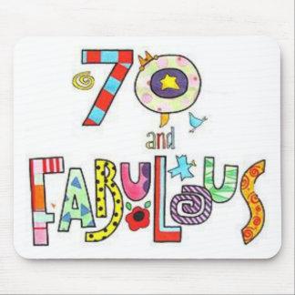70 años y cumpleaños fabuloso alfombrilla de raton