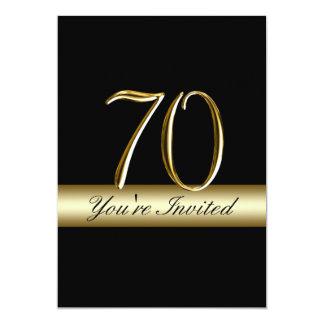 """70.as invitaciones del cumpleaños del metal de la invitación 5"""" x 7"""""""
