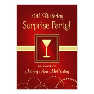 70.as invitaciones del fiesta de sorpresa del invitación 12,7 x 17,8 cm