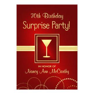 70 as invitaciones del fiesta de sorpresa del cump