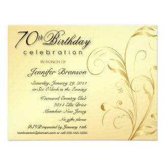 70 as invitaciones elegantes del fiesta de sorpres