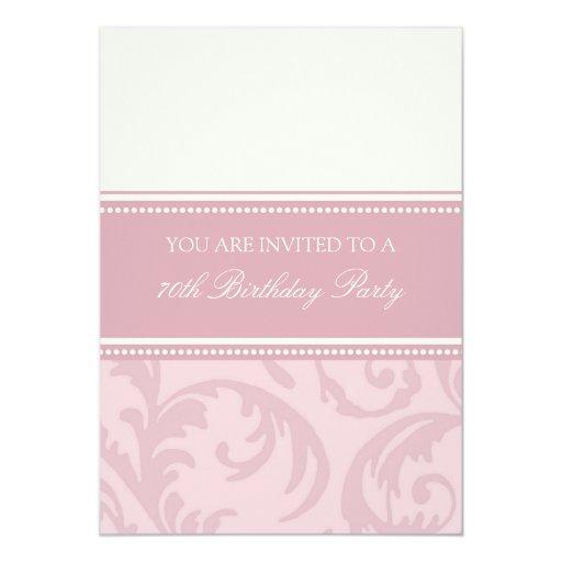 70.as invitaciones florales poner crema rosadas de invitación 12,7 x 17,8 cm