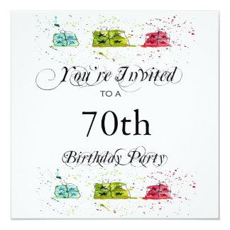 """70.as invitaciones personalizadas de la fiesta de invitación 5.25"""" x 5.25"""""""