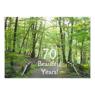 70 Beautiful Years!-Birthday+Forest Bridge Card