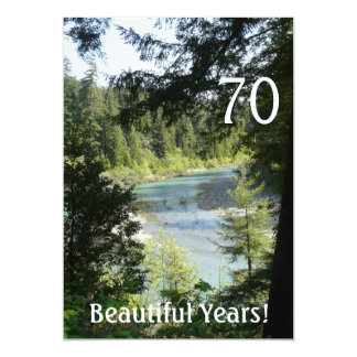 70 Beautiful Years!-Birthday+Woodland Lake Card
