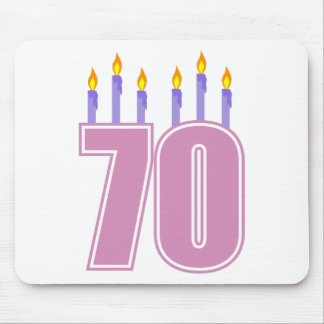 70 Birthday Candles (Pink / Purple) Mouse Pad