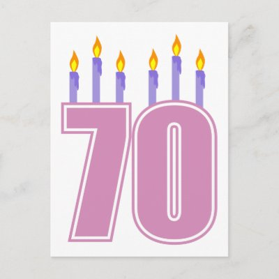 70 candles this cute design is perfect for anyone s 70t