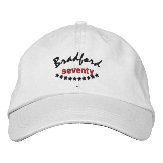 70 Birthday Custom Name RED BLACK Embroidery V01C7 Embroidered Baseball Caps