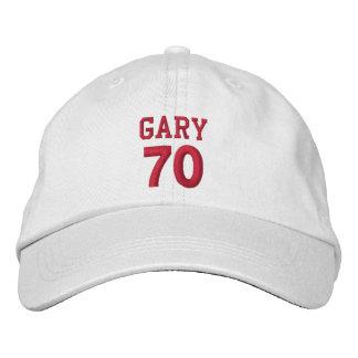 70 Birthday Custom Name Red Embroidery V15 Embroidered Baseball Cap