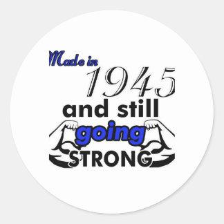 70 birthday design classic round sticker