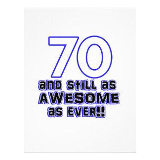 70 birthday design letterhead