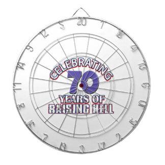 70 birthday Designs Dart Board
