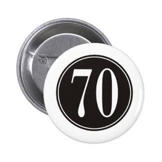 #70 Black Circle 2 Inch Round Button