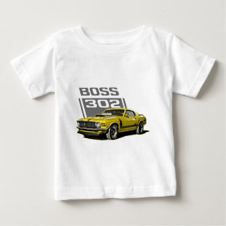 70 Boss 302 Yellow Baby T-Shirt