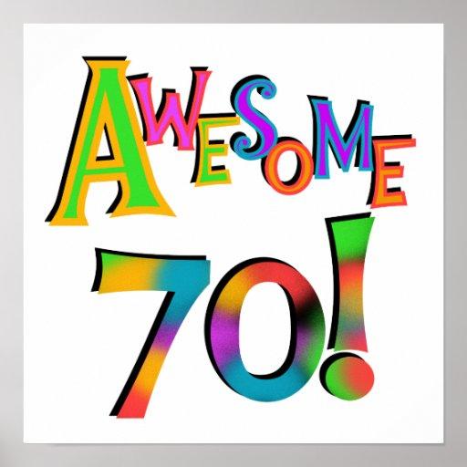 70 camisetas y regalos impresionantes del cumpleañ póster