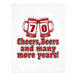 70 Cheers Beer Birthday Letterhead