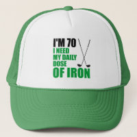 70 Daily Dose Iron Golf Funny Hat