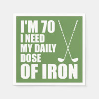 70 Daily Dose Of Iron Golfer Party Napkins
