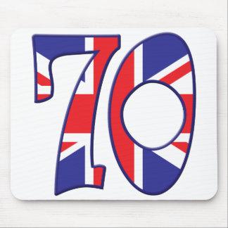 70 edad Reino Unido Alfombrilla De Ratón