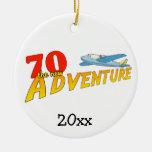 70 el nuevo ornamento del recuerdo del avión de la ornamentos de reyes magos