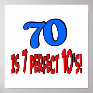 70 es los 7 años 10 perfectos (AZULES) Posters