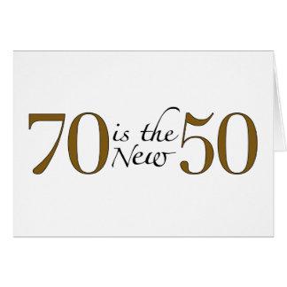70 es los nuevos 50 tarjeta de felicitación