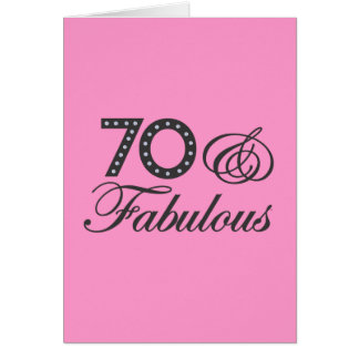 70 & Fabulous! Card