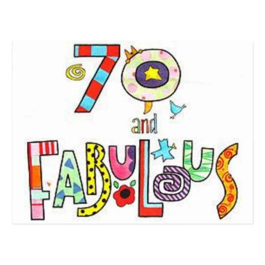 70 fabulous happy 70th birthday postcard zazzle com