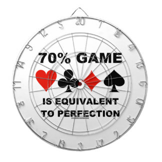 70% Game Is Equivalent To Perfection Dart Board