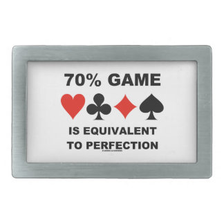70% Game Is Equivalent To Perfection Rectangular Belt Buckle