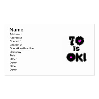 70 is OK Birthday Double-Sided Standard Business Cards (Pack Of 100)