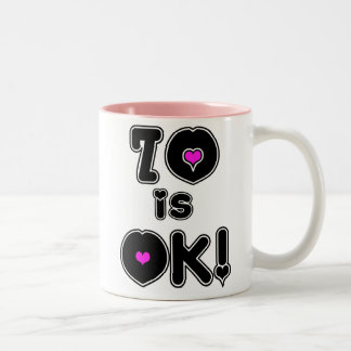 70 is OK Birthday Two-Tone Coffee Mug