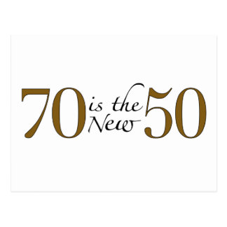 70 Is The New 50 Postcard