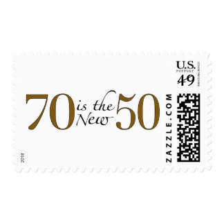 70 Is The New 50 Stamp