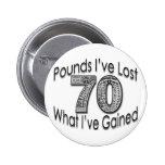 70 libras de botón perdido pins