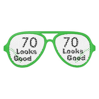 70 Looks Good © Funny 70th Birthday Gag Gift Aviator Sunglasses
