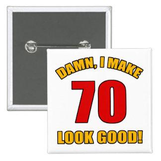 ¡70 miradas buenas! pin cuadrado