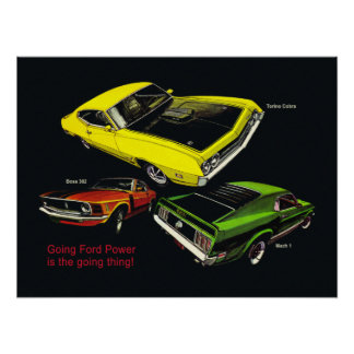 70 Mustangs and Torino Ad Poster
