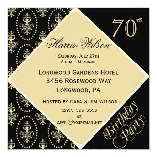 """70.o-79.o Invitaciones del cumpleaños Invitación 5.25"""" X 5.25"""""""
