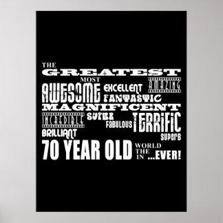 70 o Años más grandes de la fiesta de cumpleaños l Impresiones