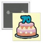 70.o Botón de la fiesta de cumpleaños Pin