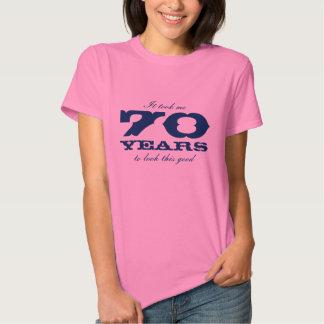 70.o Camisa de Bitrthday para el | me tardó 70